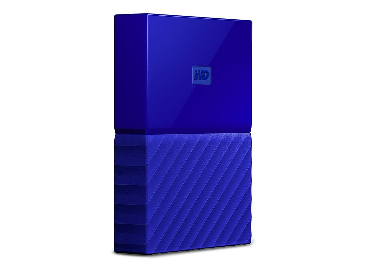 WD 3TB Blue My Passport Portable External Hard Drive - USB 3.0 - WDBYFT0030BBL-WESN-Large-Image-1