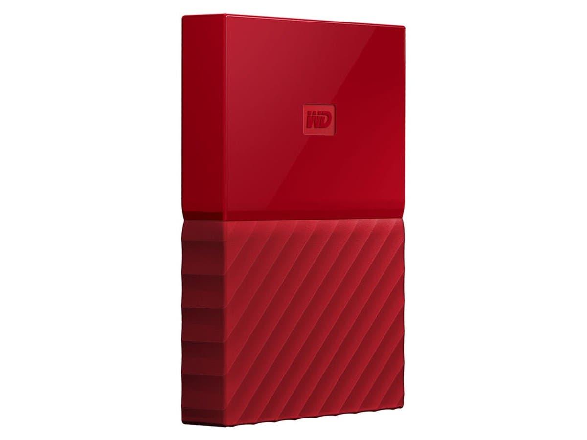 WD 3TB My Passport Portable Hard Drive USB 3.0 WDBYFT0030BRD-WESN - Red