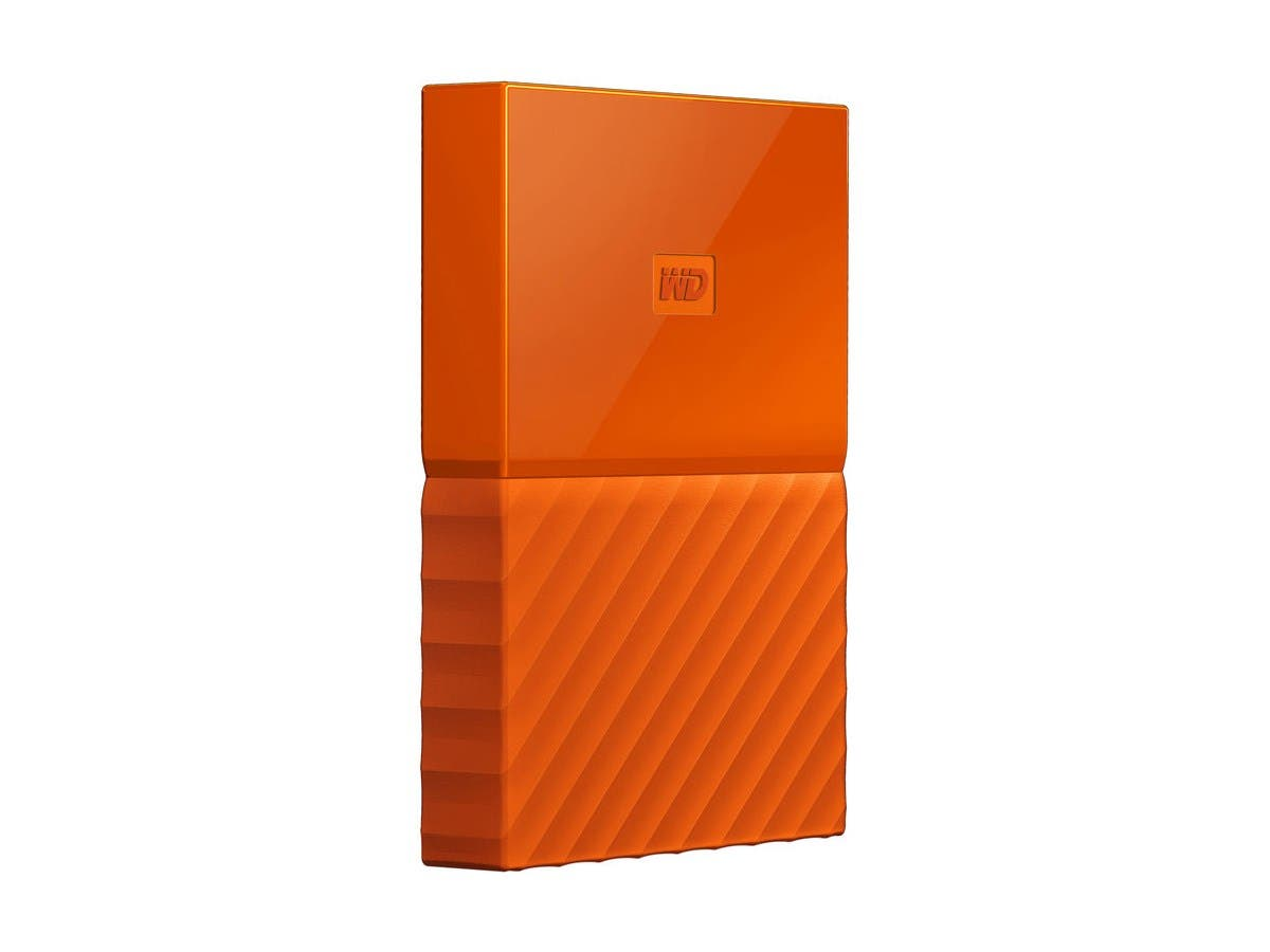 WD 3TB My Passport Portable Hard Drive USB 3.0 WDBYFT0030BOR-WESN - Orange