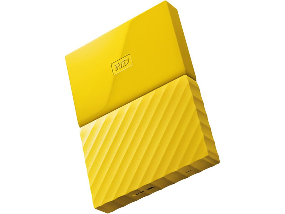 WD - My Passport 3TB Portable Hard Drive - External USB 3.0 - Yellow