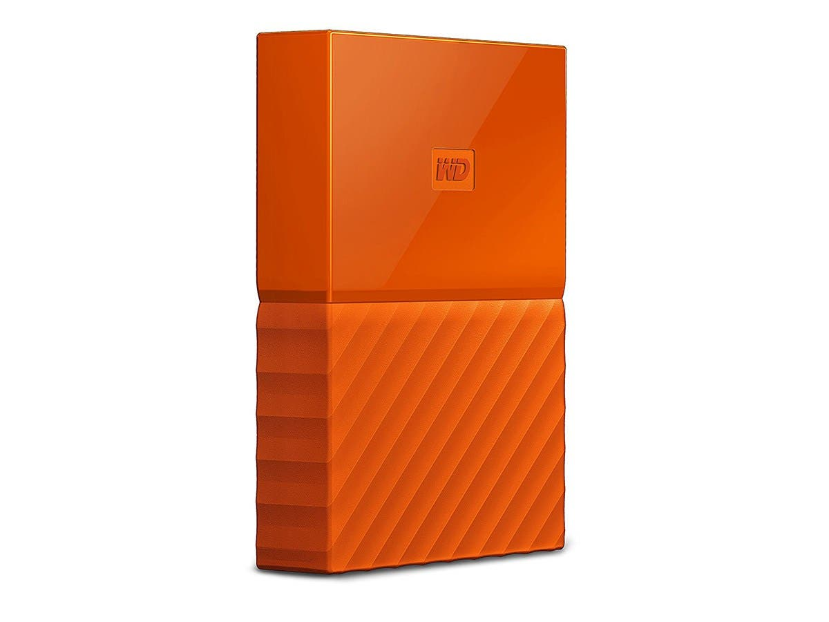 WD 2TB My Passport Portable External Hard Drive - USB 3.0 - WDBYFT0020BOR-WESN - Orange