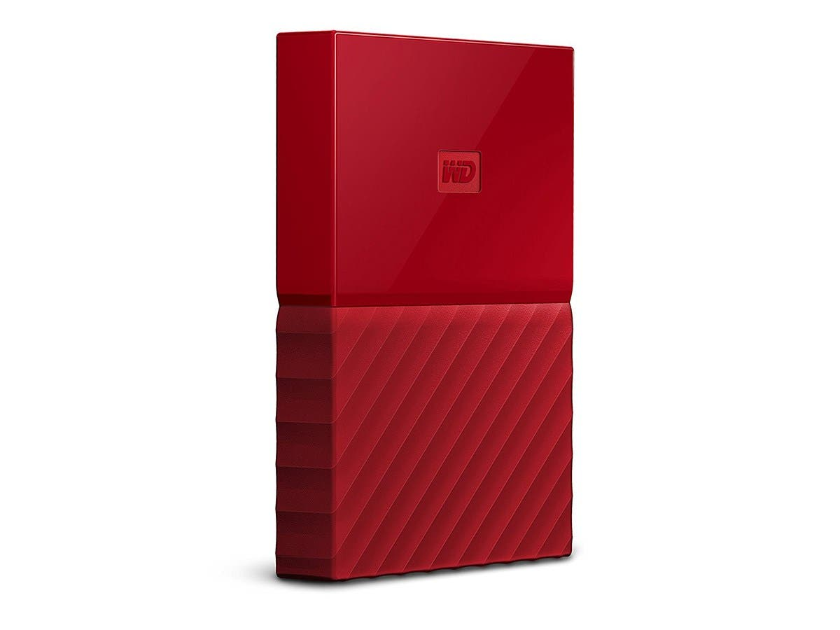 WD 1TB My Passport  Portable External Hard Drive - USB 3.0 - WDBYNN0010BRD-WESN - Red-Large-Image-1