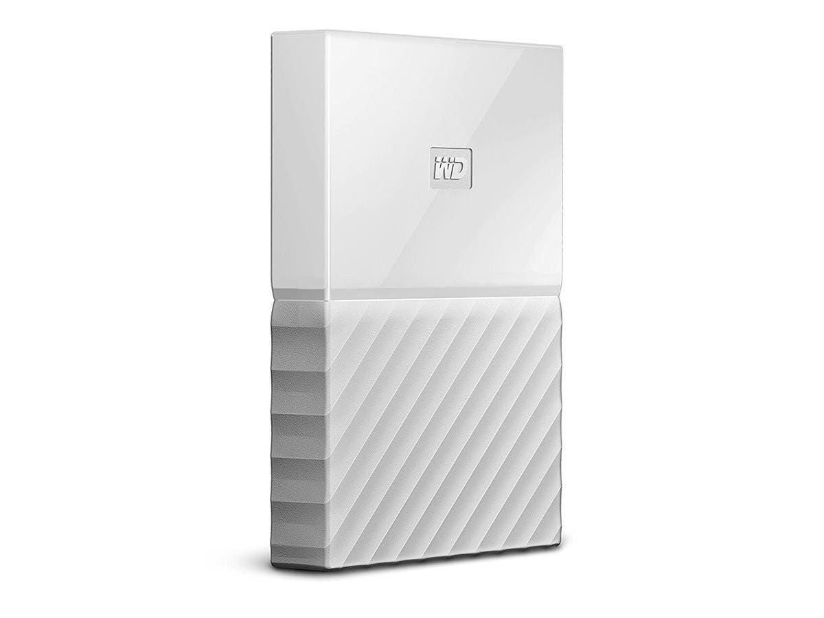 WD 1TB My Passport Portable External Hard Drive - USB 3.0 - WDBYNN0010BWT-WESN - White-Large-Image-1