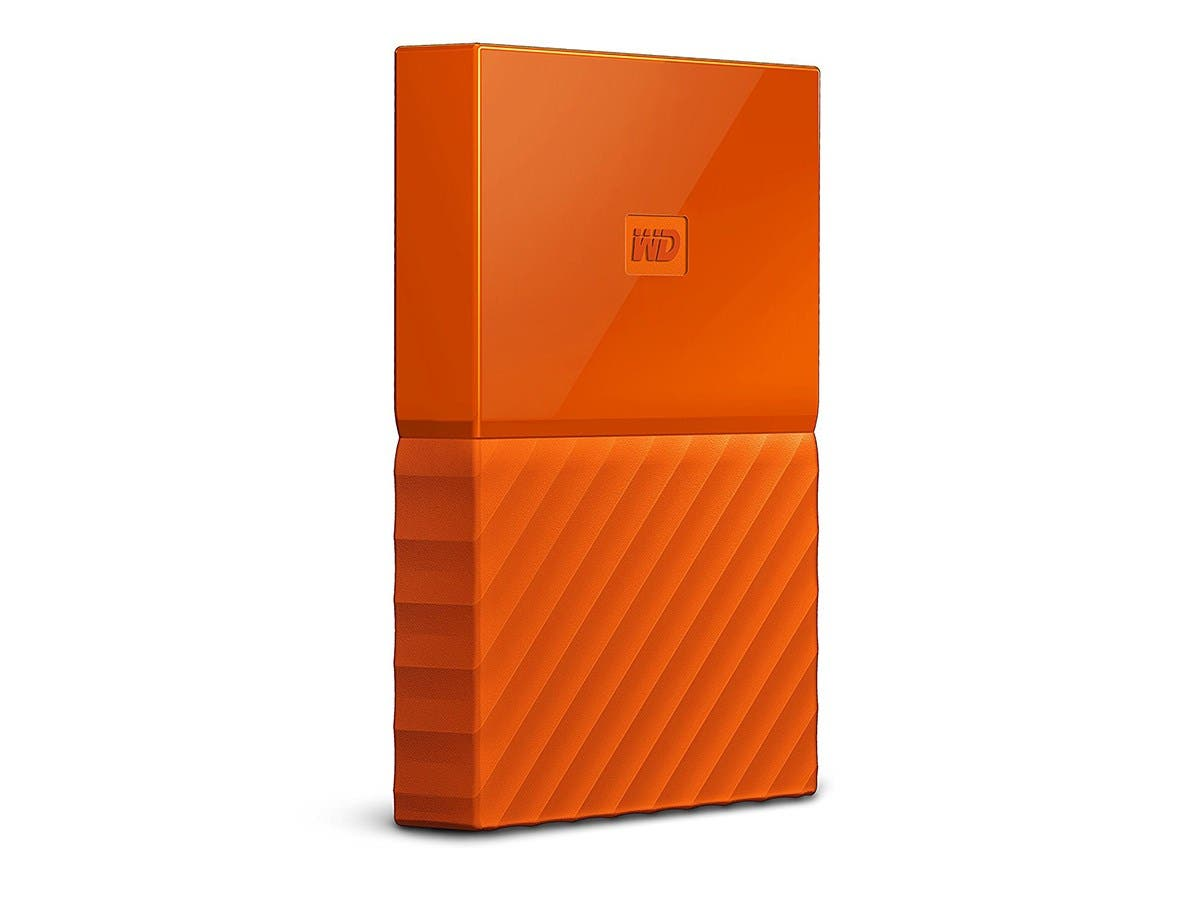 WD 1TB My Passport Portable External Hard Drive - USB 3.0 - WDBYNN0010BOR-WESN - Orange