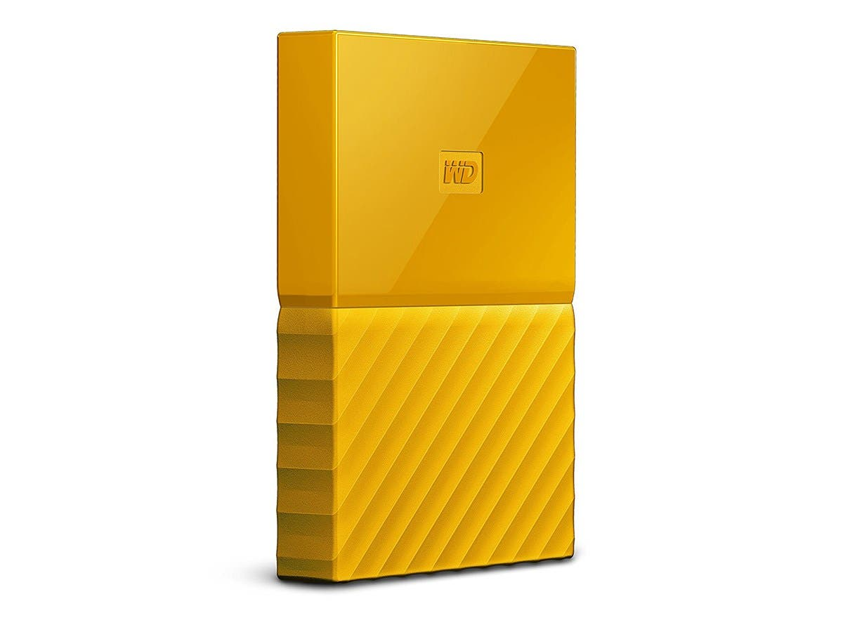 WD 1TB My Passport Portable External Hard Drive - USB 3.0 - WDBYNN0010BYL-WESN - Yellow-Large-Image-1