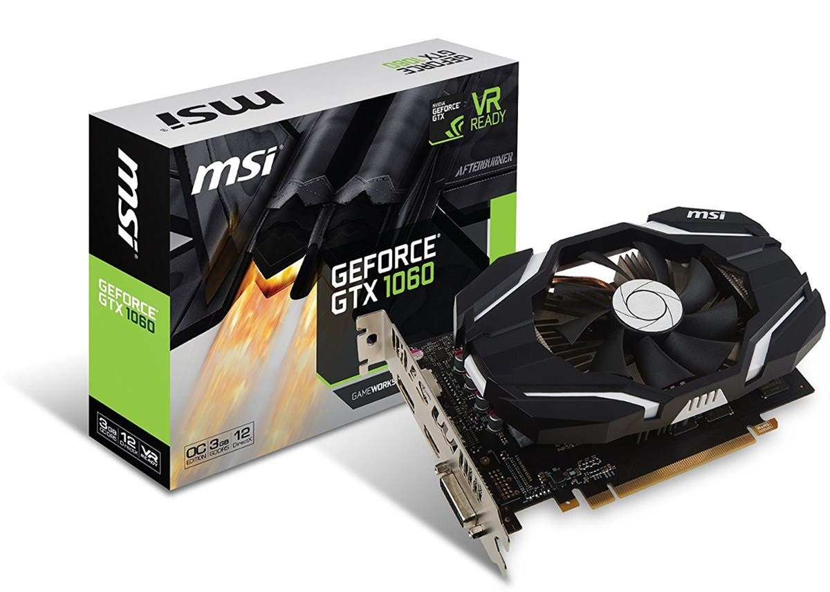 MSI GEFORCE GTX 1060 PCIE16 3GB GDDR5 DVI-D HDMI DP SINGLE FAN