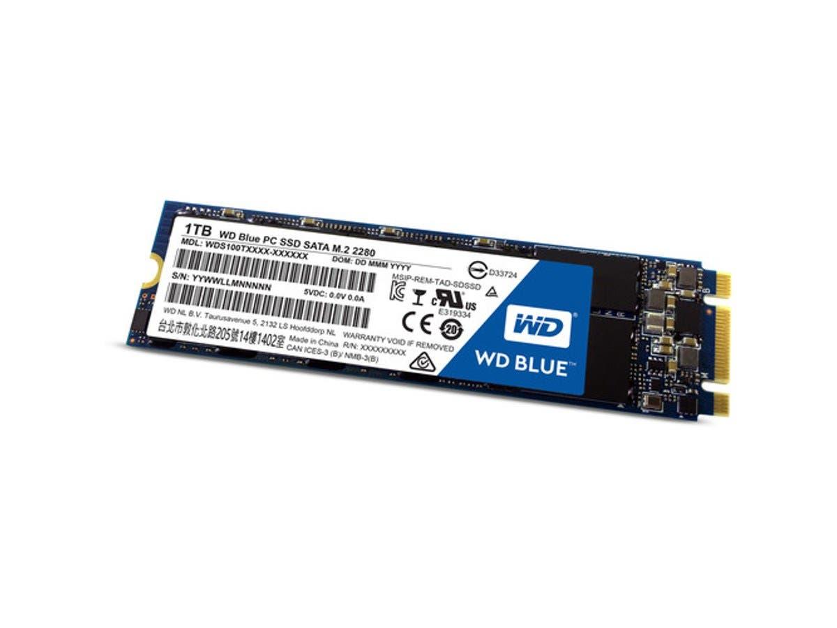 WD Blue M.2 1TB Internal SSD Solid State Drive - SATA 6Gb/s - WDS100T1B0B