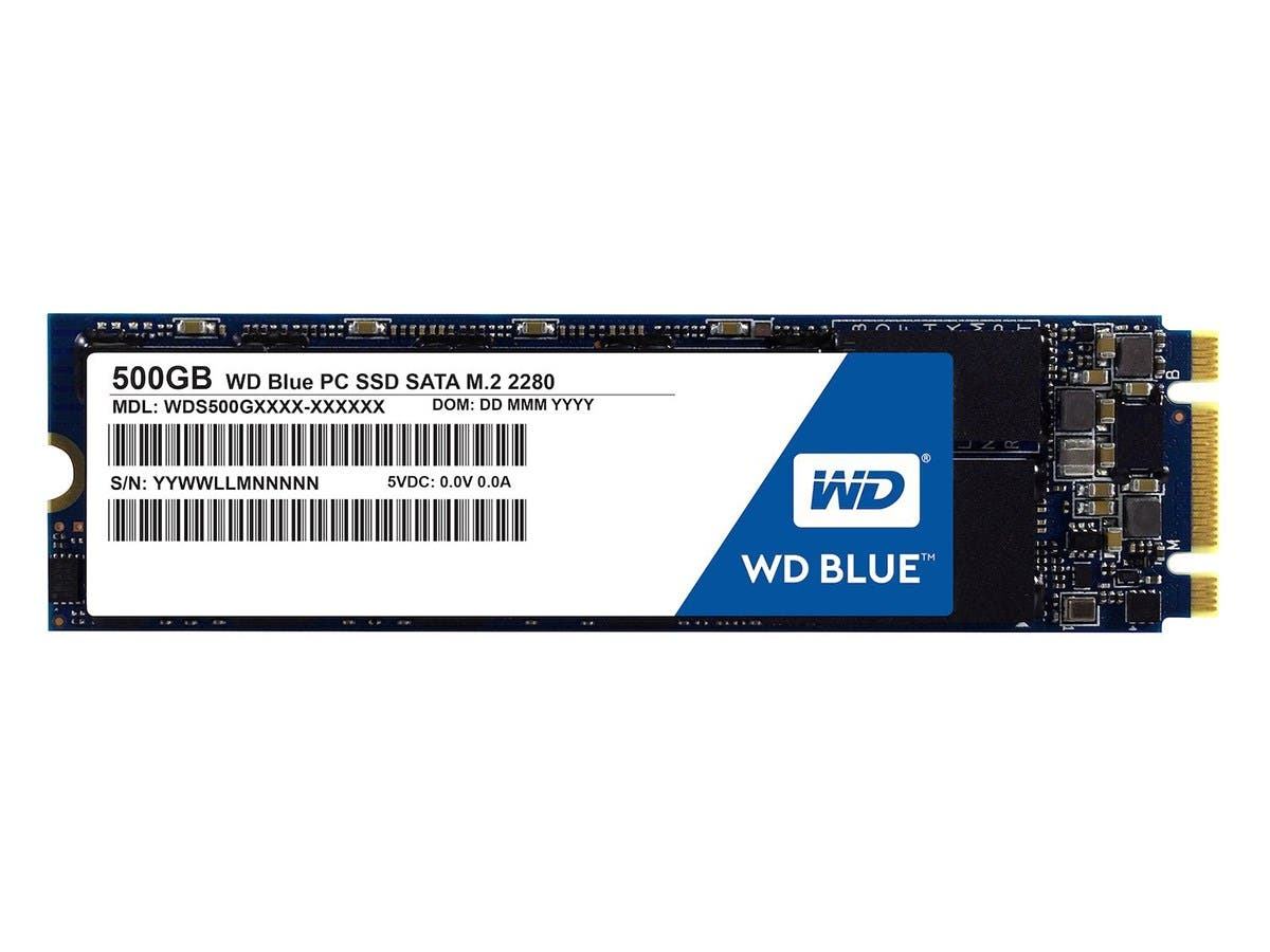 Western Digital Blue M.2 500GB Internal SSD Solid State Drive - SATA 6Gb/s - WDS500G1B0B