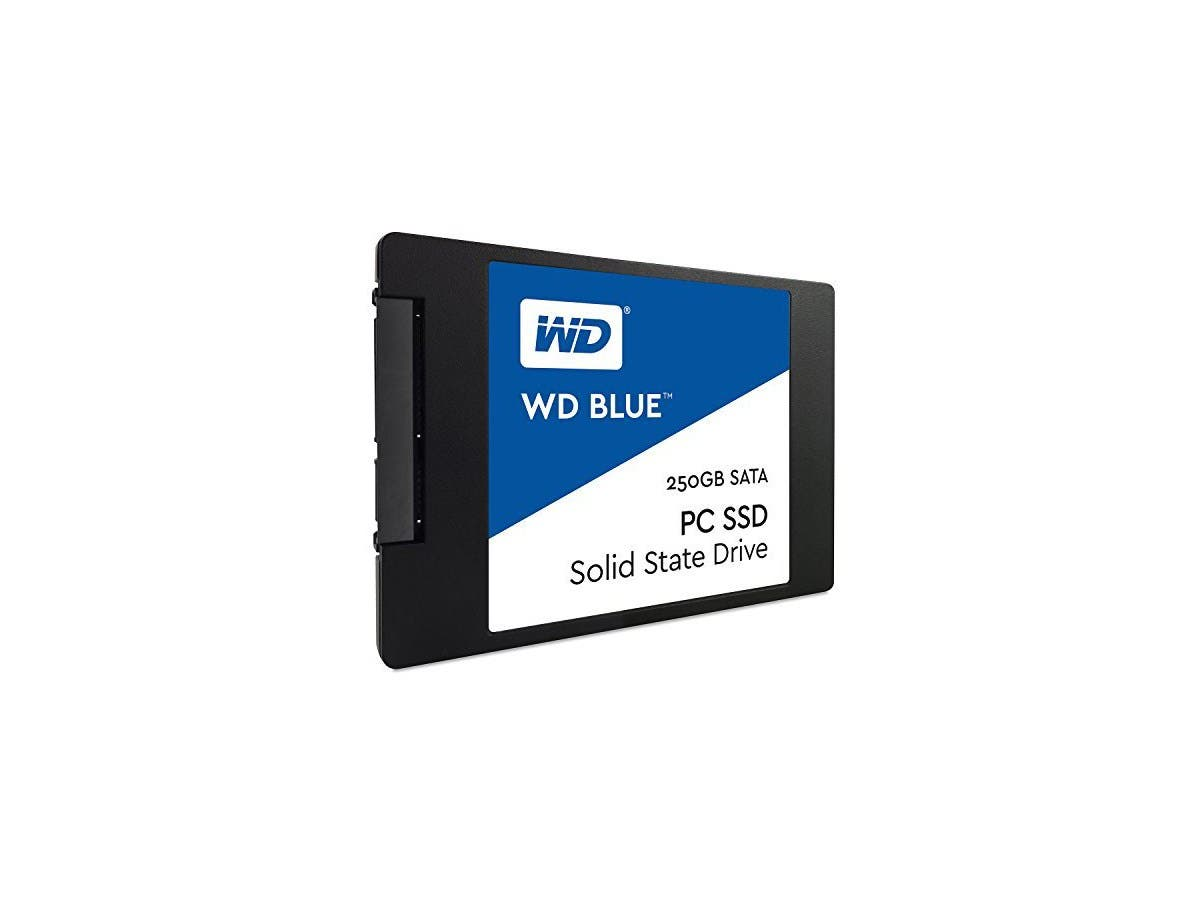 WD Blue 250GB Internal SSD Solid State Drive - SATA 6Gb/s 2.5 Inch - WDS250G1B0A-Large-Image-1