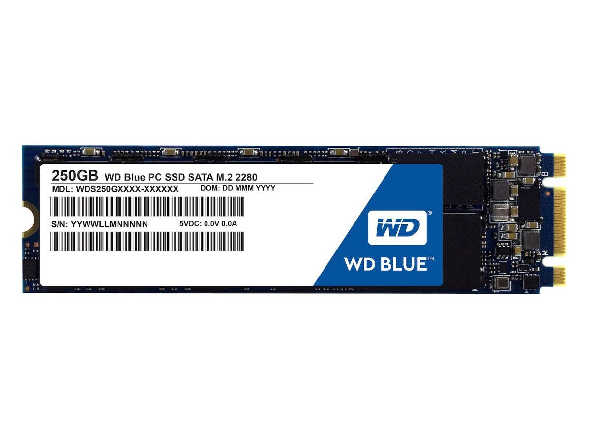 WD Blue 250GB Internal SSD - SATA 6 Gb/s M.2 2280 Solid State Drive - WDS250G1B0B