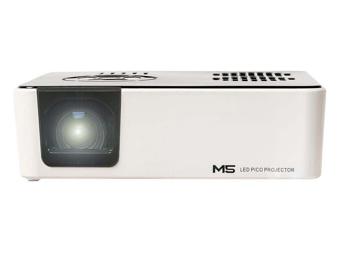 AAXA M5 Pico WXGA DLP Projector 900 Lumen- White/Black