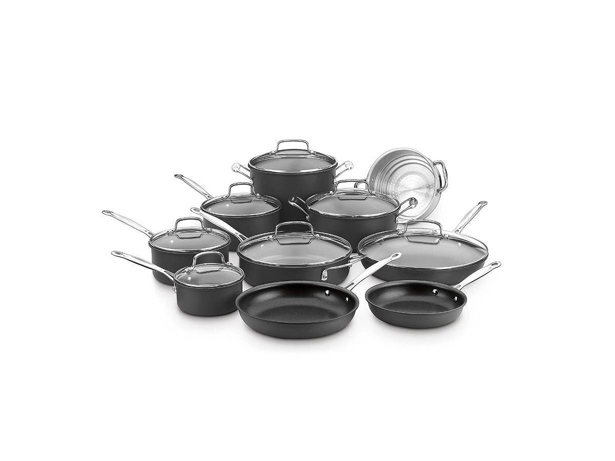Cuisinart Chef's Classic Non-Stick Hard Anodized, 17 Piece Set, Black, 66-17N