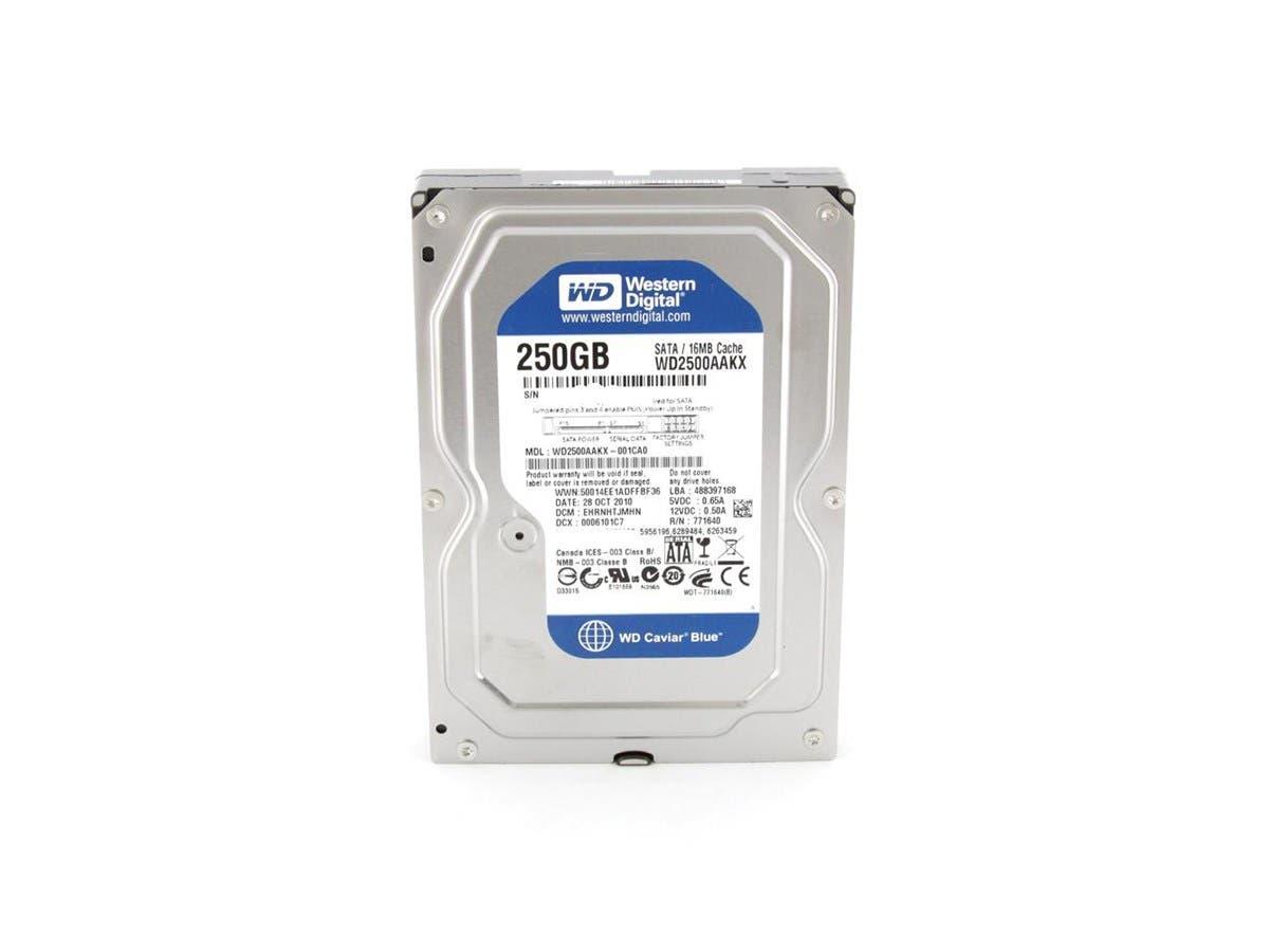 "Western Digital Blue WD2500AAKX 250GB 7200 RPM 16MB Cache SATA 6.0Gb/s 3.5"" Internal Hard Drive Bare Drive -Large-Image-1"