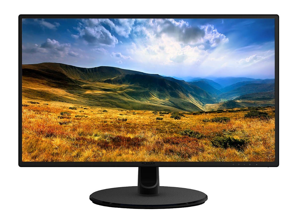 "Planar PLN22770W 27"" LED LCD Monitor - 16:9 - 14 ms - 1920 x 1080 - 16.7 Million Colors - 250 Nit - 1,000:1 - Full HD - DVI - VGA - 29 W - RoHS-Large-Image-1"
