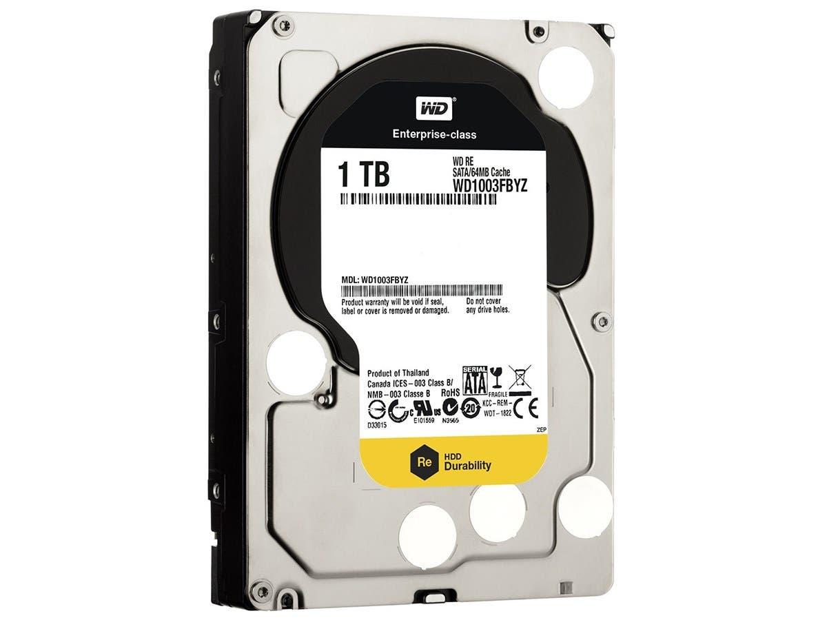 WD 1 TB WD RE SATA III 7200 RPM 64 MB Cache Bulk/OEM Enterprise Hard Drive WD1003FBYZ -Large-Image-1