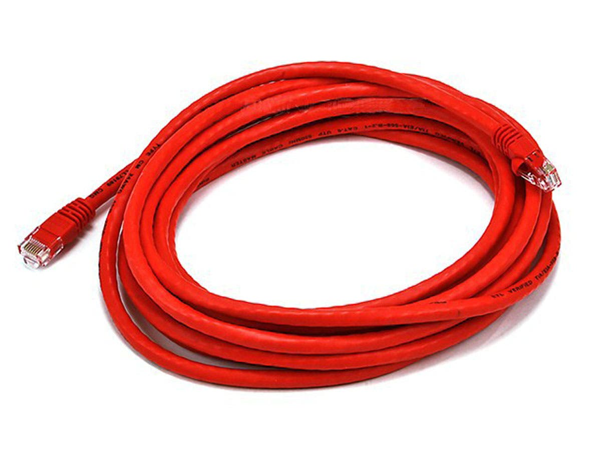 Cat5e 24AWG UTP Ethernet Network Patch Cable, 14ft Red