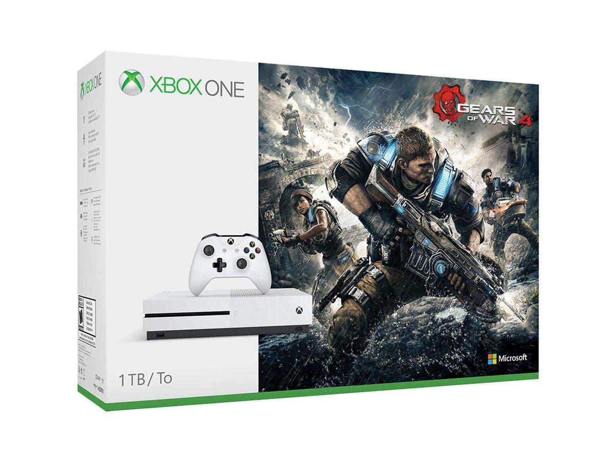 Microsoft Xbox One S 1TB Gears of War 4 Console Bundle - White