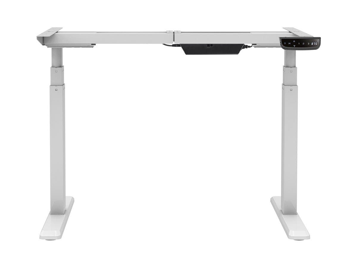 Attractive Sit Stand Dual Motor Height Adjustable Table Desk Frame, Electric, White