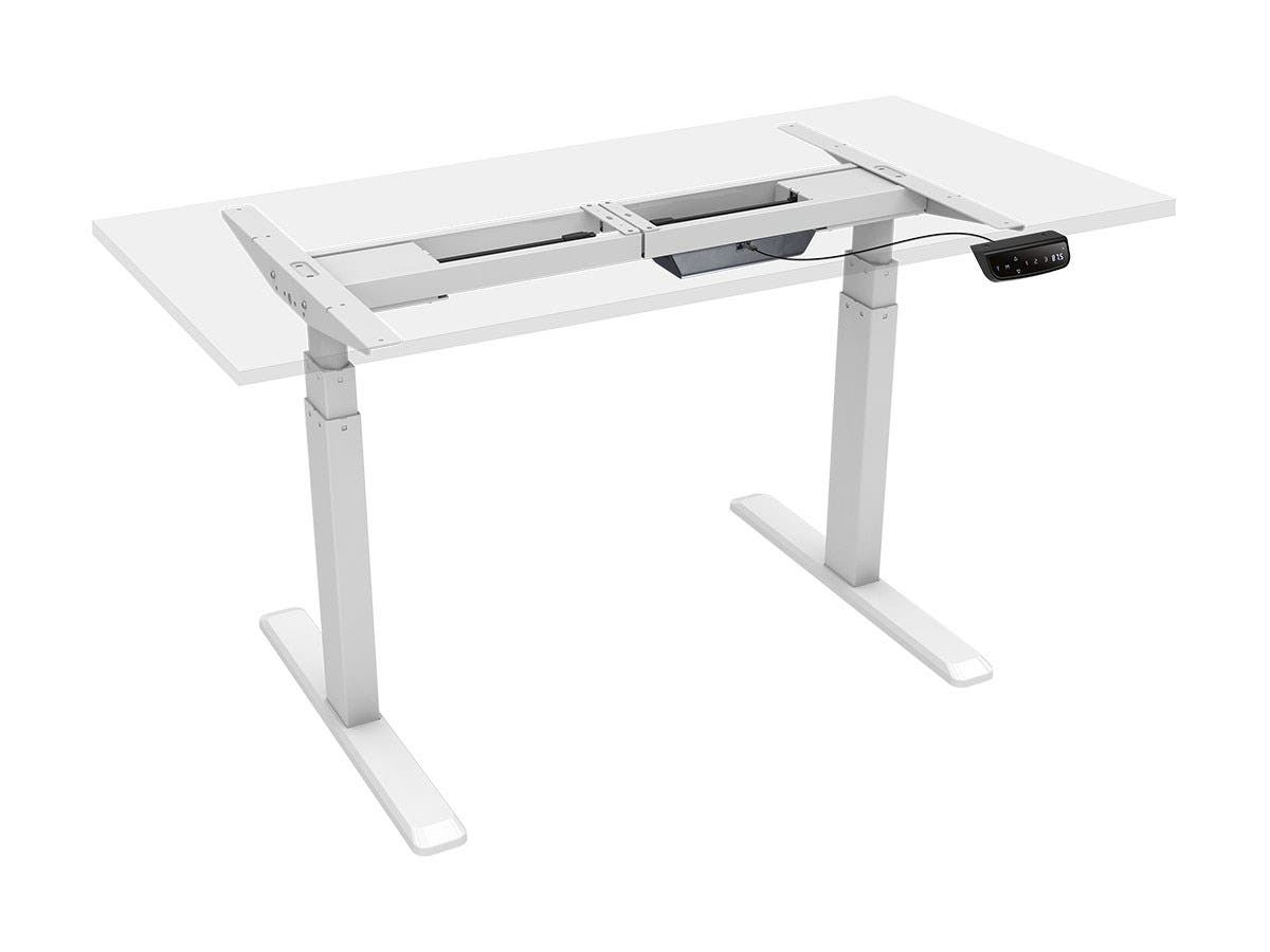 Workstream By Monoprice Sit Stand Dual Motor Height Adjustable Table Desk  Frame, Electric