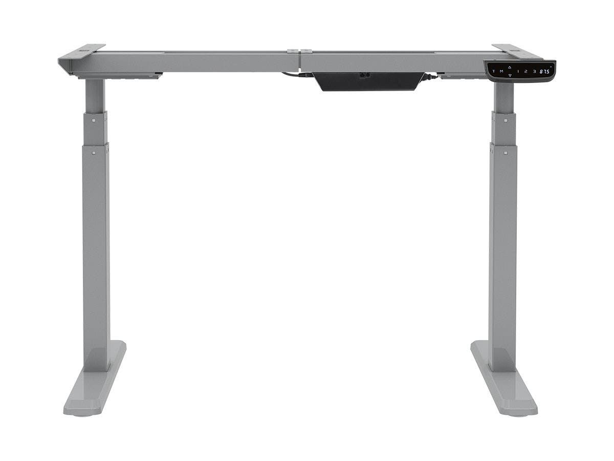 sitstand dualmotor height adjustable table desk frame electric gray