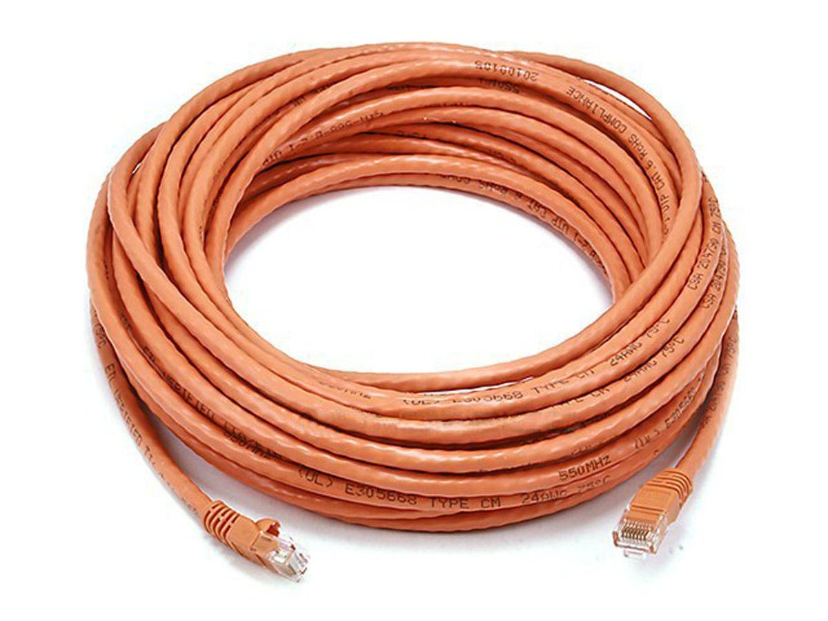 Cat5e 24AWG UTP Ethernet Network Patch Cable, 50ft Orange
