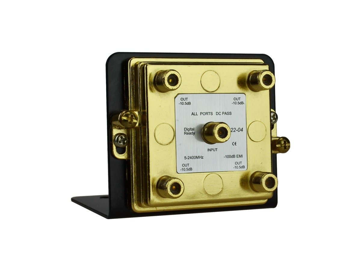 4-Way Splitter 2.4GHz on Mounting Bracket