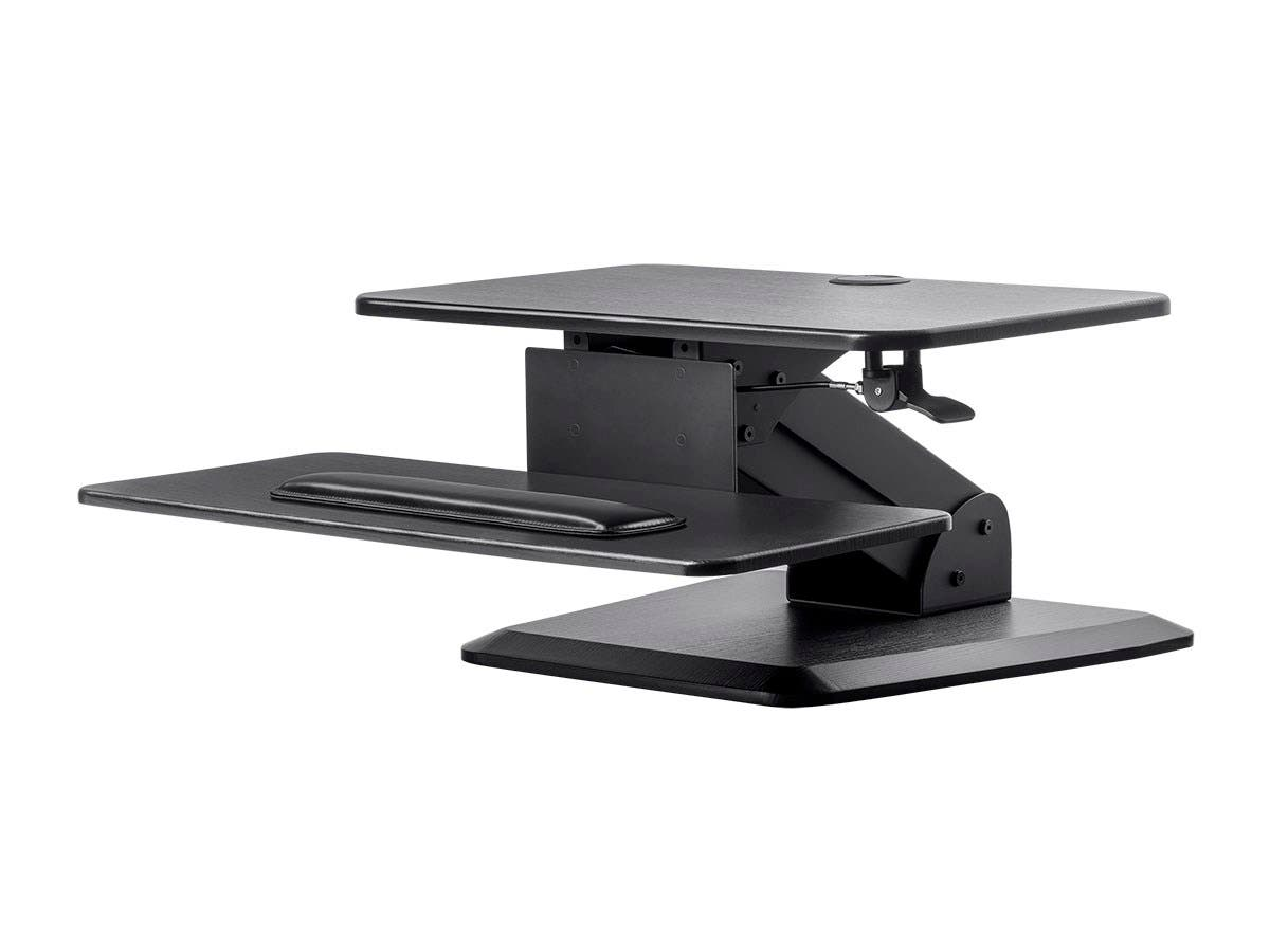 Workstream By Mono Sit Stand Workstation Table Or Desk Converter With Free Standing Base