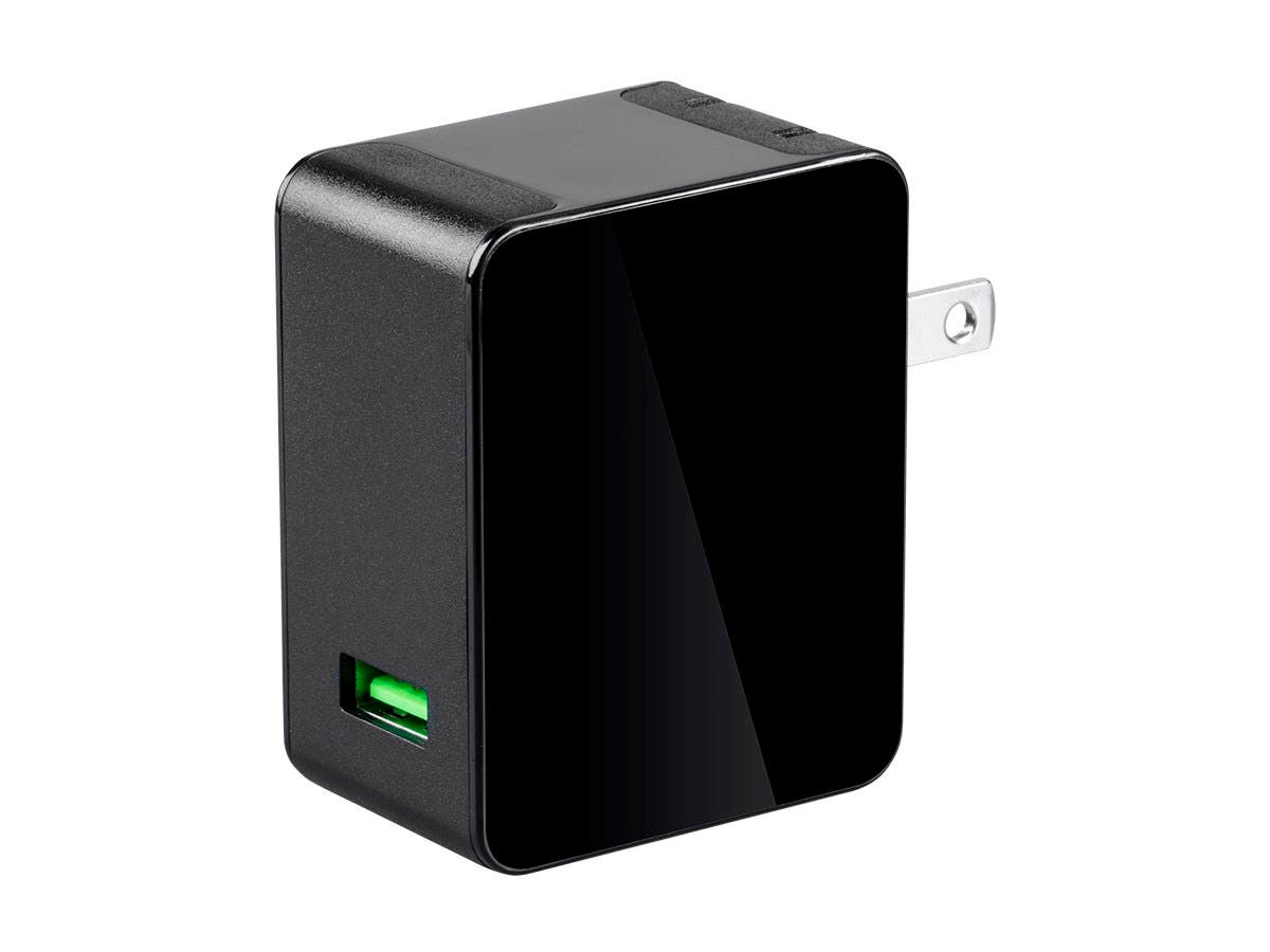 Monoprice Obsidian Speed USB Wall Charger, 1-Port, QC 3.0 Output for iPhone, Android, and Galaxy Devices -Large-Image-1