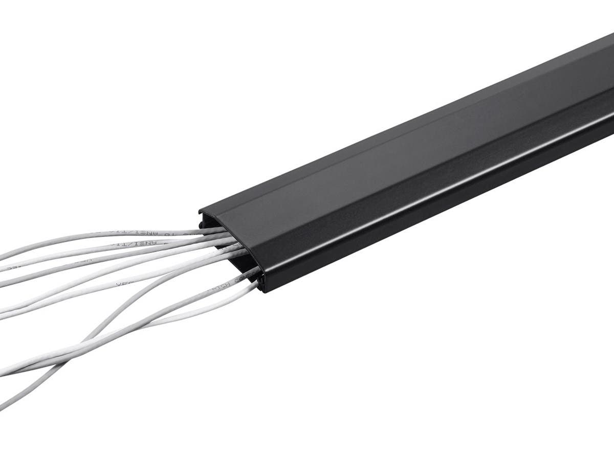 Surface Wire Molding Wiring Channel Monoprice Aluminum Cable Management Raceway In Large Black Com