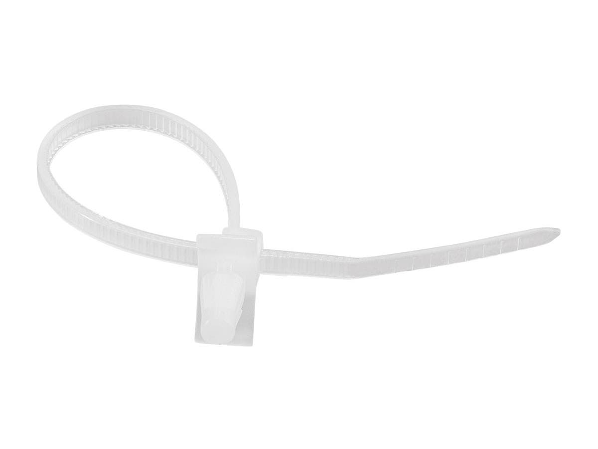 winged push mount cable ties 110mm 100pcs white