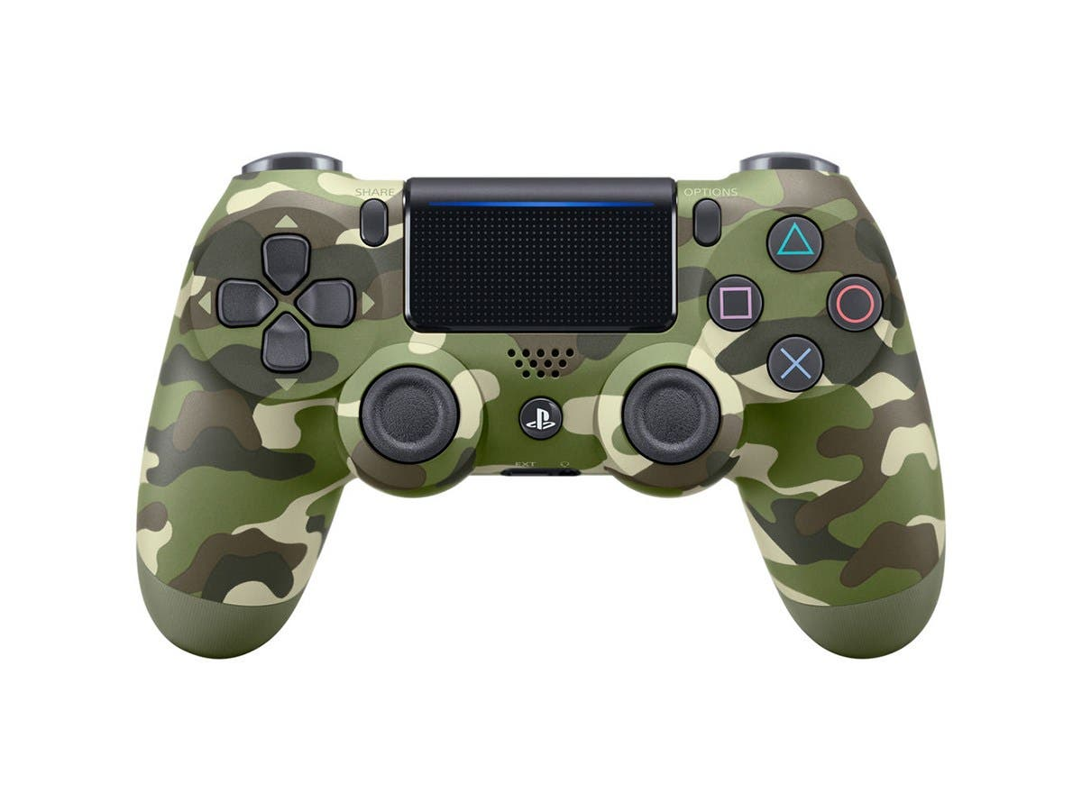 Sony DualShock 4 Wireless Controller for the Playstation 4 (PS4) 2016 Version - Green Camo-Large-Image-1