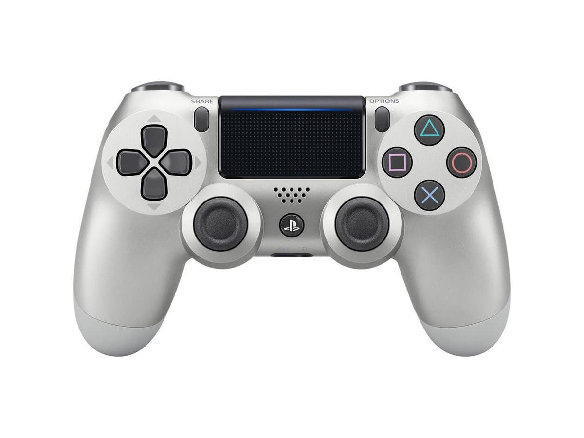 Sony DualShock 4 Wireless Controller for Playstation 4 (PS4) 2016 Version - Silver-Large-Image-1