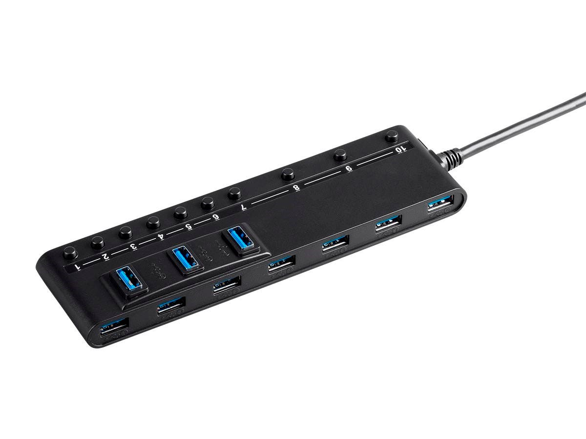 Monoprice Usb 30 10 Port Switch Hub With Ac Adapter Large Image