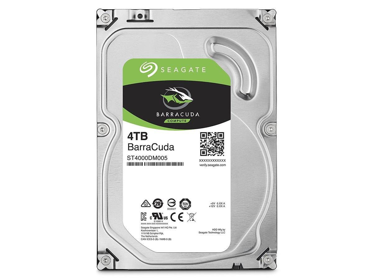 Seagate 4TB BarraCuda SATA 7200RPM 3.5-Inch Internal Hard Drive (ST4000DM005)