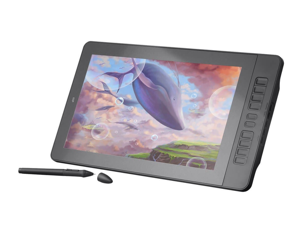 "Monoprice MP USB Powered 15.6"" IPS 1080p FHD Graphic Pen Display Tablet, HDMI-Large-Image-1"