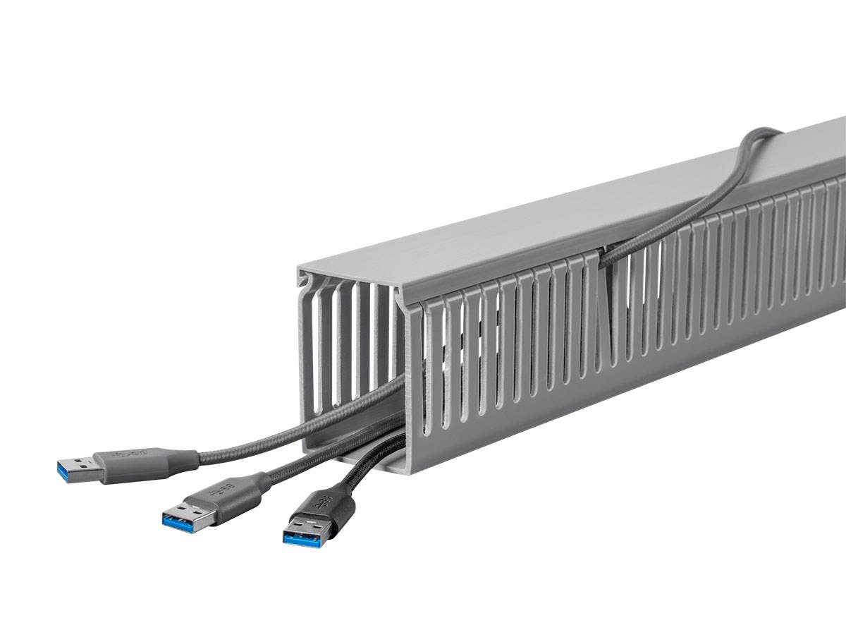 Monoprice Open Slot Wiring Raceway Duct with Cover, 6 Feet Long-Large-Image-1