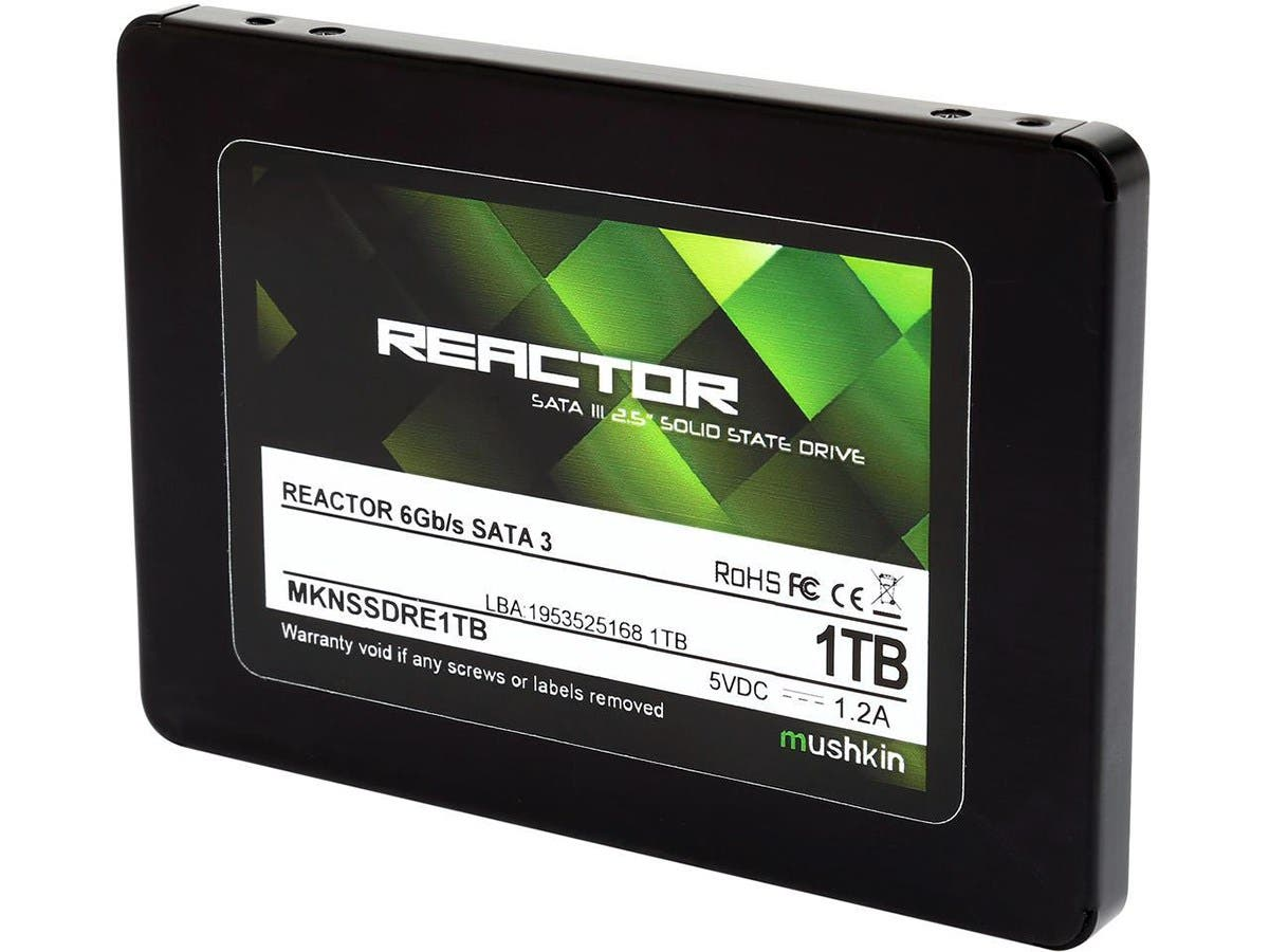 "Mushkin Enhanced Reactor 2.5"" 1TB SATA III MLC Internal Solid State Drive (SSD) MKNSSDRE1TB"
