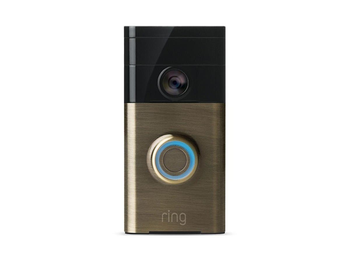 Ring Wi-Fi Smart Video Doorbell (Antique Brass)-Large-Image-1