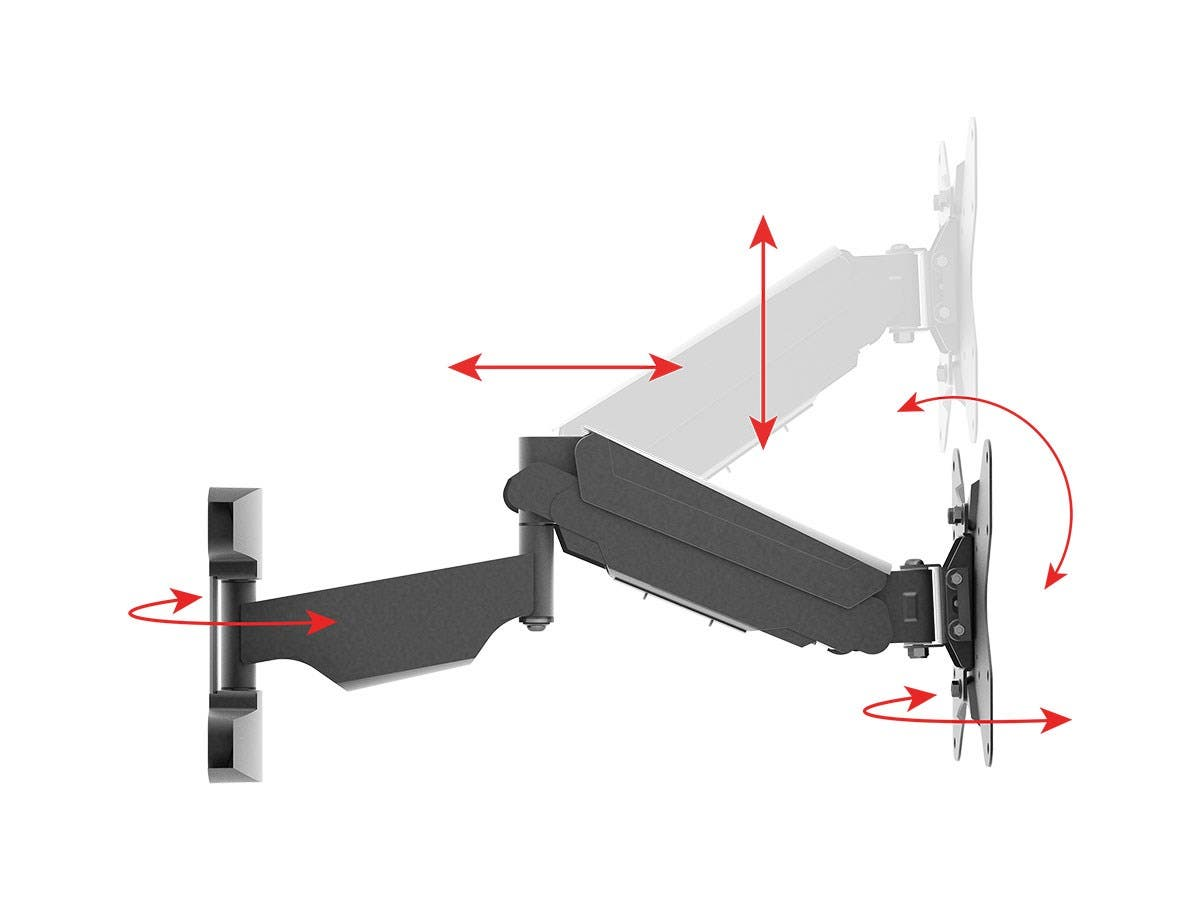 Monoprice Smooth Series Full Motion Articulating Tv Wall Mount Cat5e Diagram 3 10 From 32 Votes 7 36 Bracket For Tvs Up To