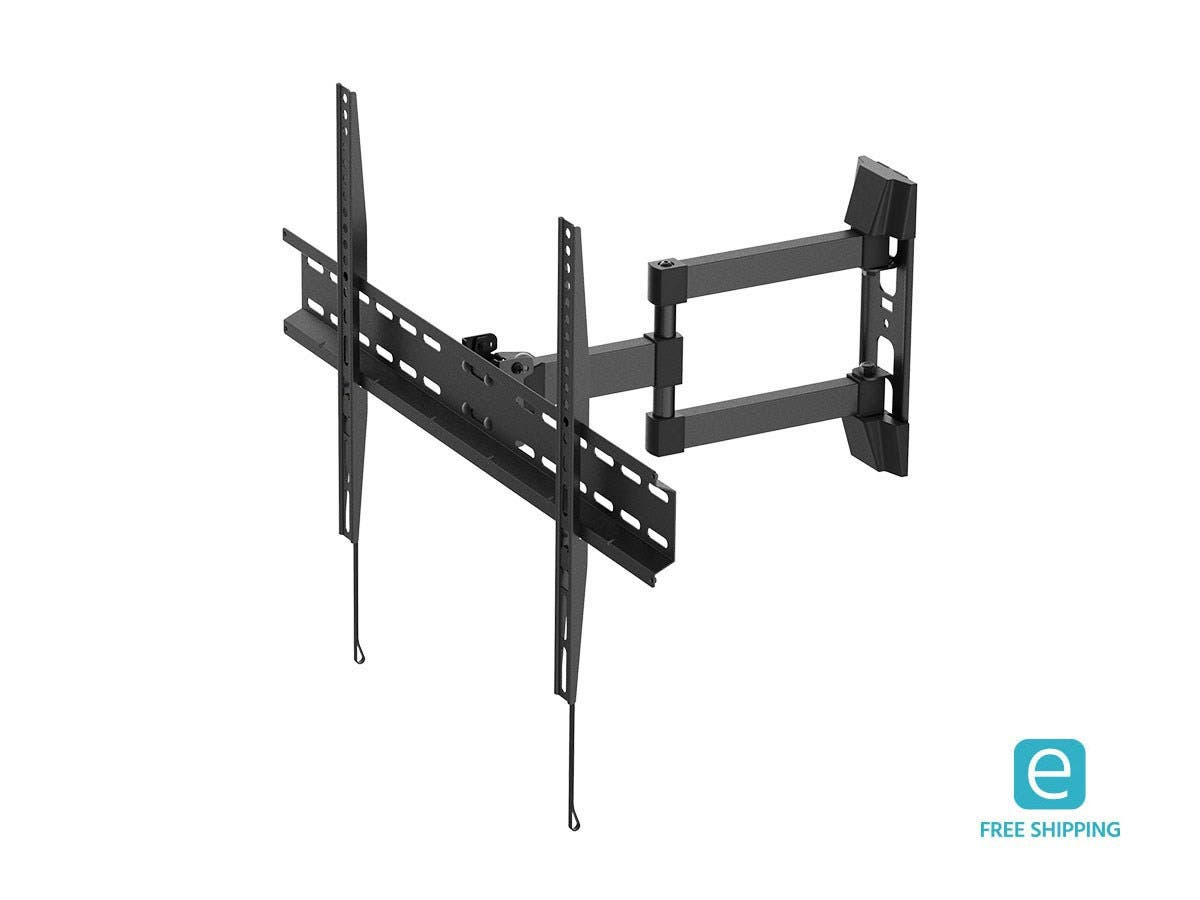 Monoprice Focal Series Full-Motion Articulating TV Wall Mount Bracket - For TVs 37in to 70in, Max Weight 77lbs, Extension Range of 3.3in to 17.4in, VESA Patterns Up to 600x400, Rotating-Large-Image-1