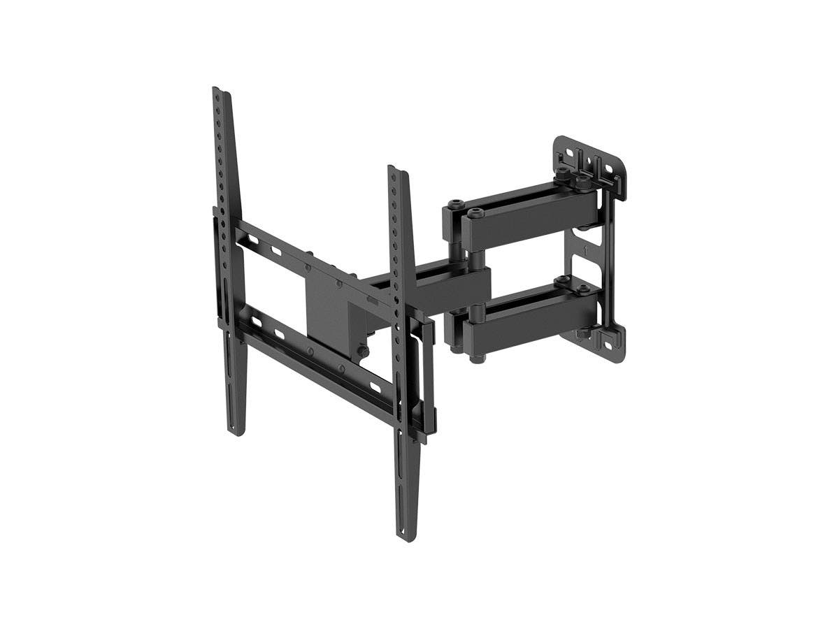 Titan Series Single Stud Dual Arm Full Motion Wall Mount for Medium Displays Max 99lbs