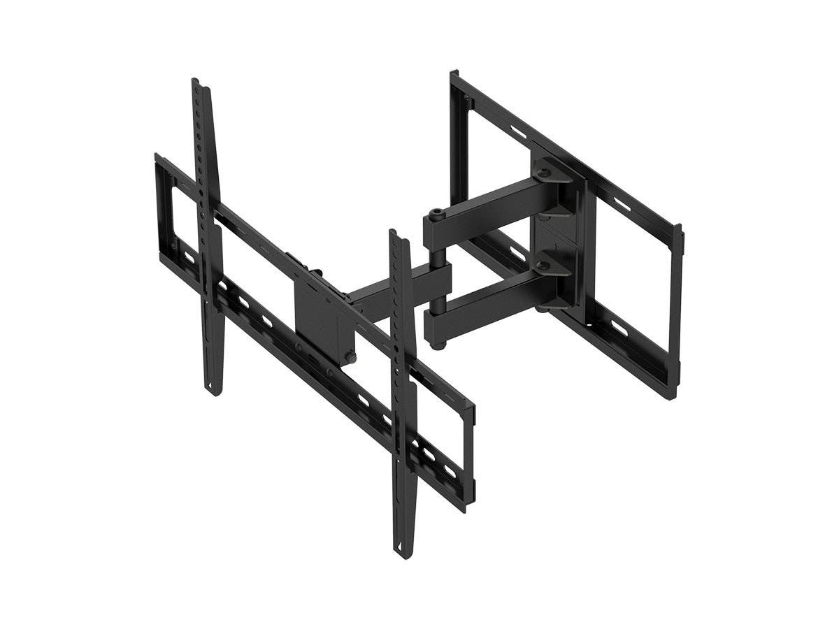Titan Series Dual Stud Single Arm Full Motion Wall Mount for Large Displays Max 77lbs