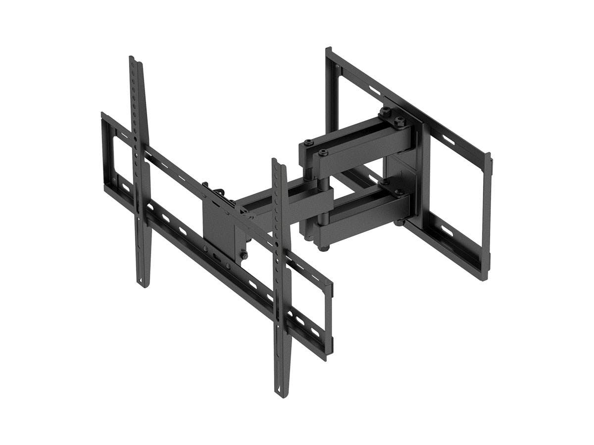 Titan Series Dual Stud Dual Arm Full Motion Wall Mount for Large Displays Max 99lbs