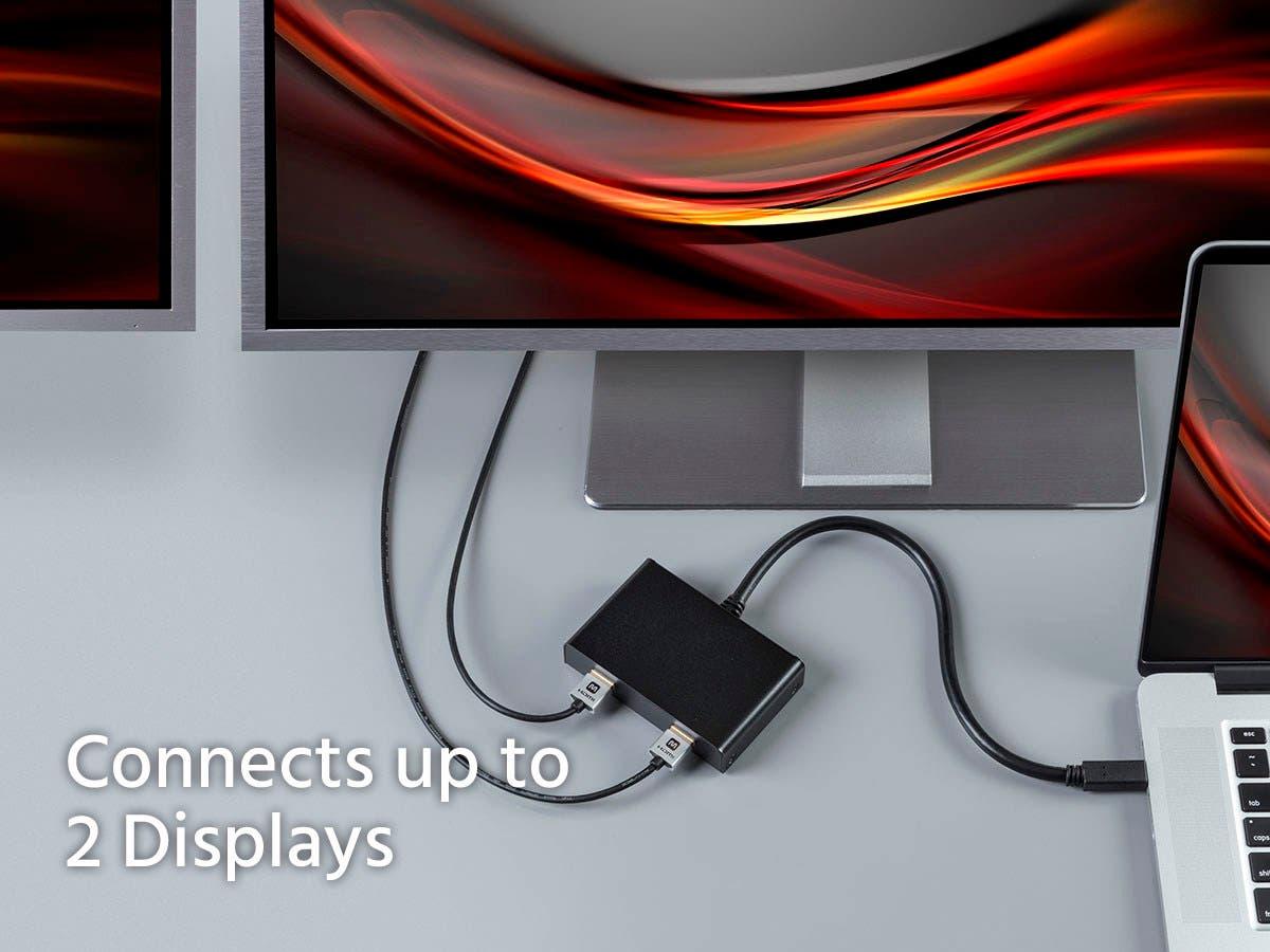 Monoprice 2-Port Mini DisplayPort 1.2 to HDMI Multi-Stream Transport ...