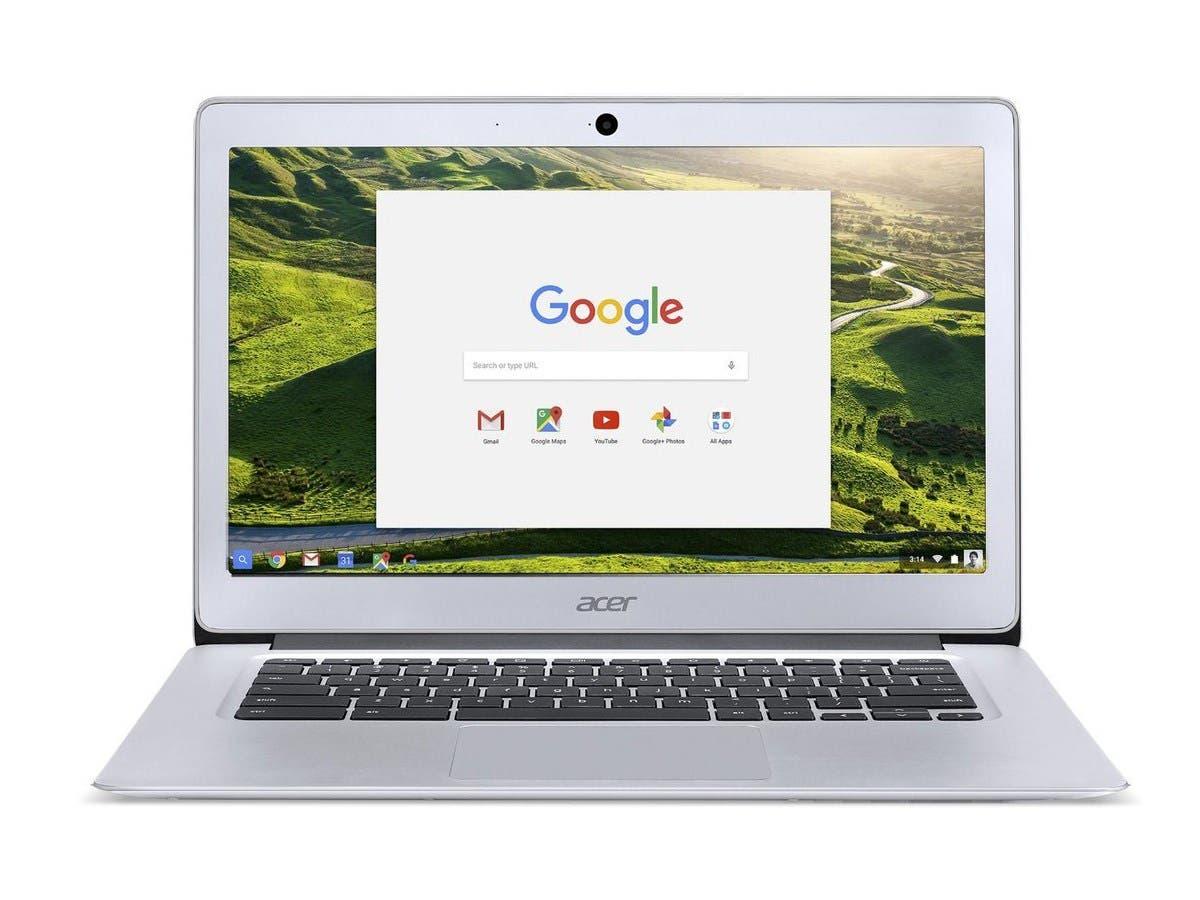 Acer CB3-431-C0AK 14-inch 1920X1080 Aluminum Chromebook Intel Celeron N3160 (1.60 GHz) 4 GB LPDDR3 Memory 32GB Flash SSD Chrome OS (Recertified)-Large-Image-1