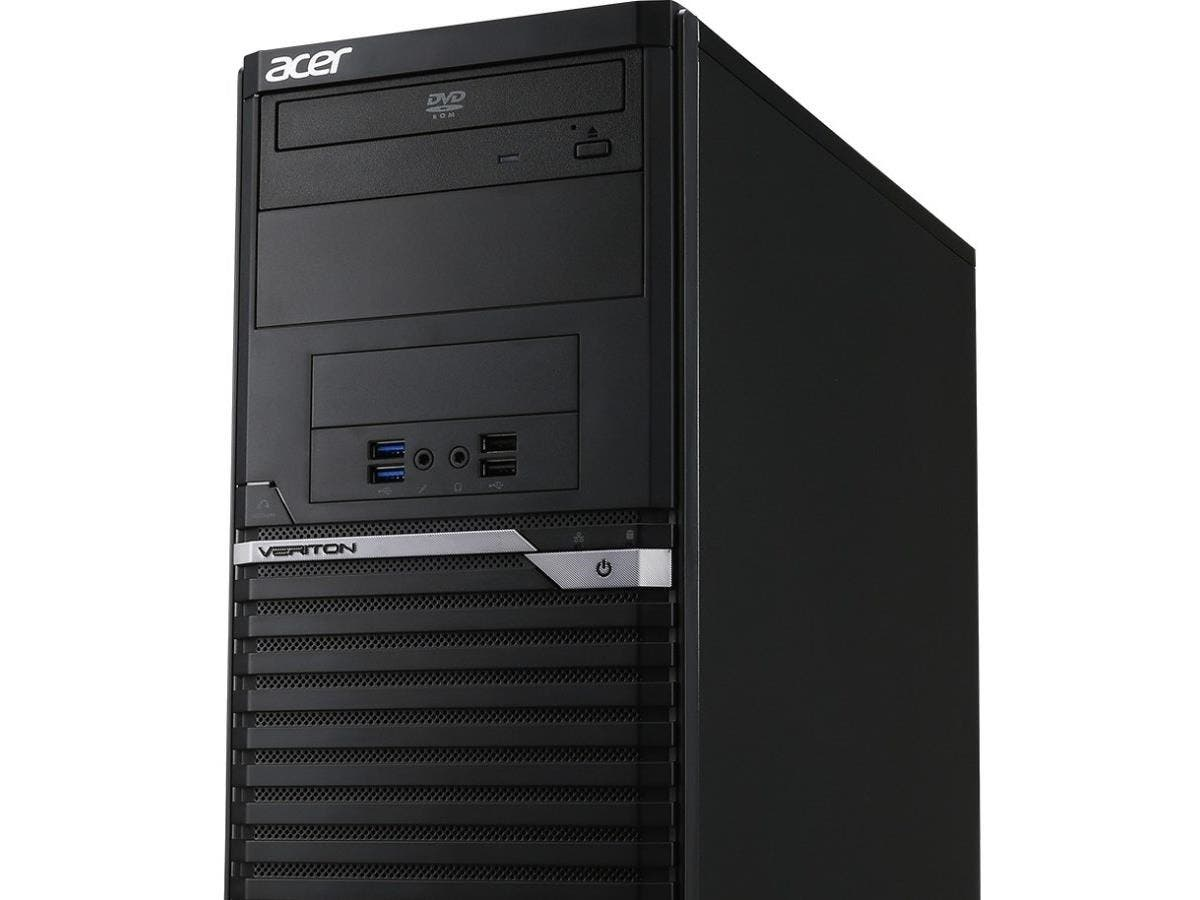 Acer Veriton Desktop Computer - Intel Core i3 (6th Gen) i3-6300 3.80 GHz - 8 GB DDR4 SDRAM RAM - 1 TB HDD - DVD-Writer DVD-RAM/±R/±RW - Windows 7 Professional 64-bit - 10 x Total Number of U