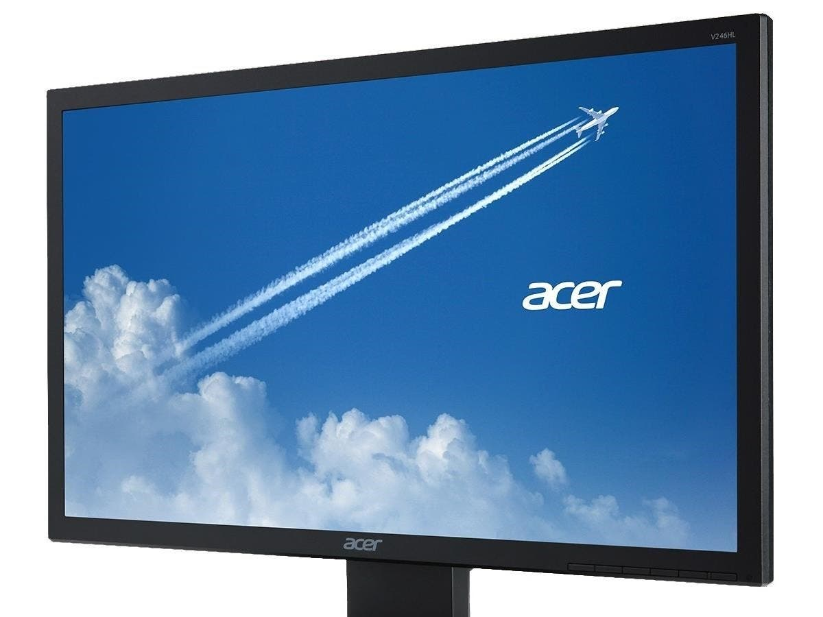 "Acer V246HQL 23.6"" LED LCD Monitor - 16:9 - 5 ms - 1920 x 1080 - 16.7 Million Colors - 300 Nit - 100,000,000:1 - Full HD - DVI - VGA - Black-Large-Image-1"