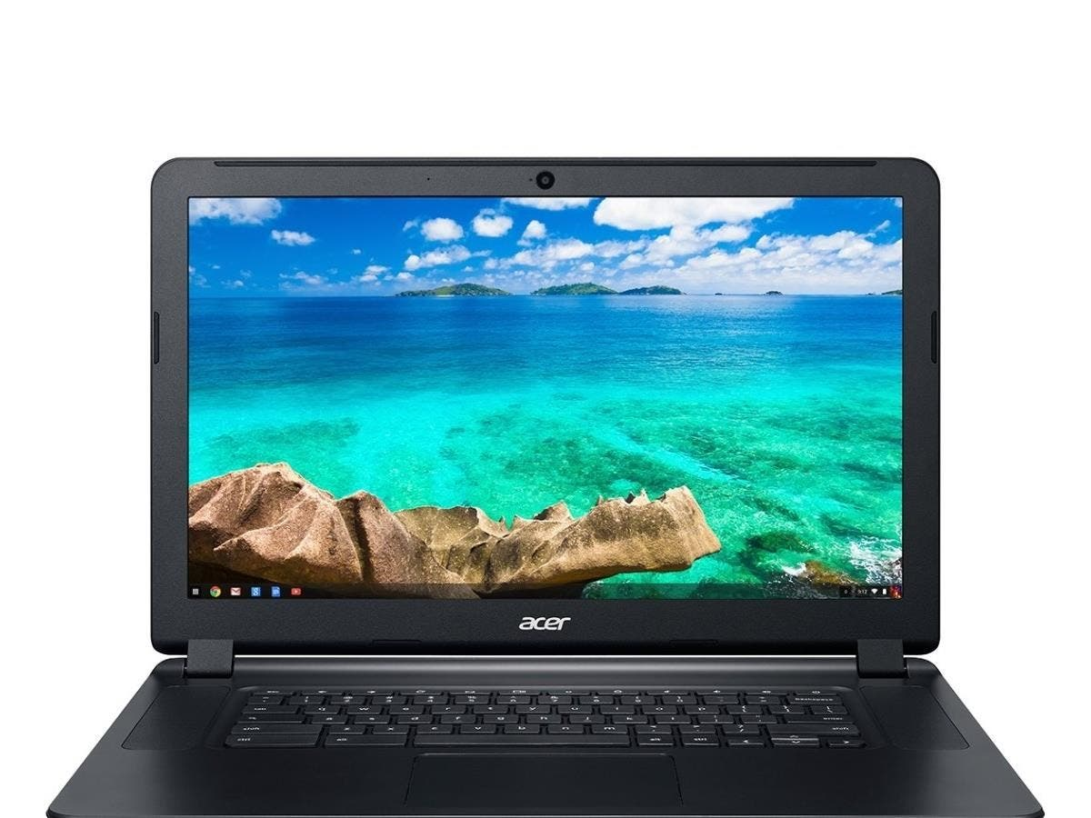 "Acer C910-54M1 15.6"" LED (ComfyView) Chromebook - Intel Core i5 i5-5200U Dual-core (2 Core) 2.20 GHz - Black - 4 GB DDR3L SDRAM RAM - 32 GB SSD - Intel HD 5500 - Chrome OS 64-bit - 1920 x 1080"