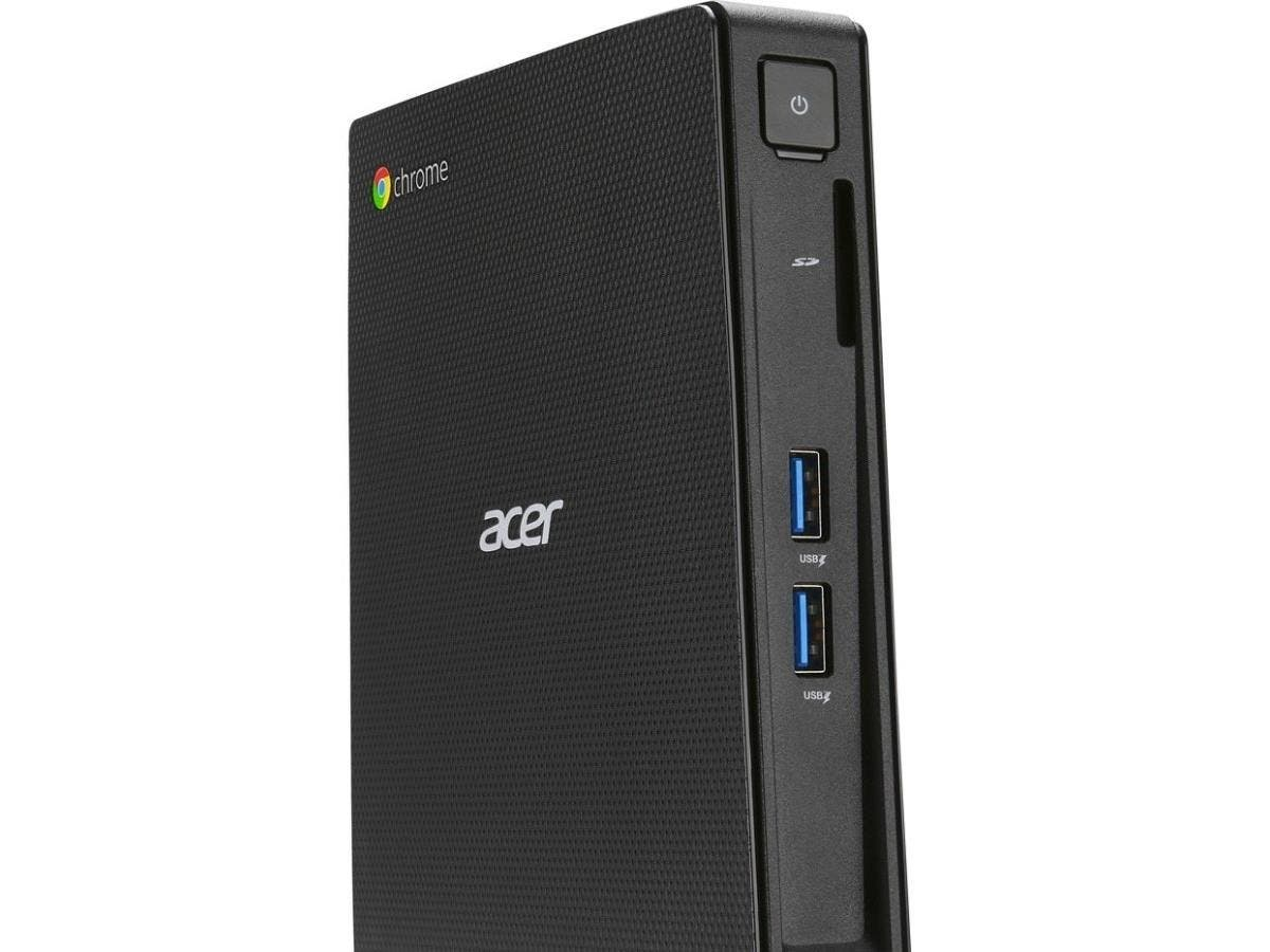 Acer CXI2 Desktop Computer - Intel Celeron 3205U 1.50 GHz - 2 GB DDR3L SDRAM RAM - 16 GB Flash Memory Capacity - Chrome OS - Wireless LAN - Bluetooth - HDMI - 4 x Total Number of USB Port(s) - 4 x USB