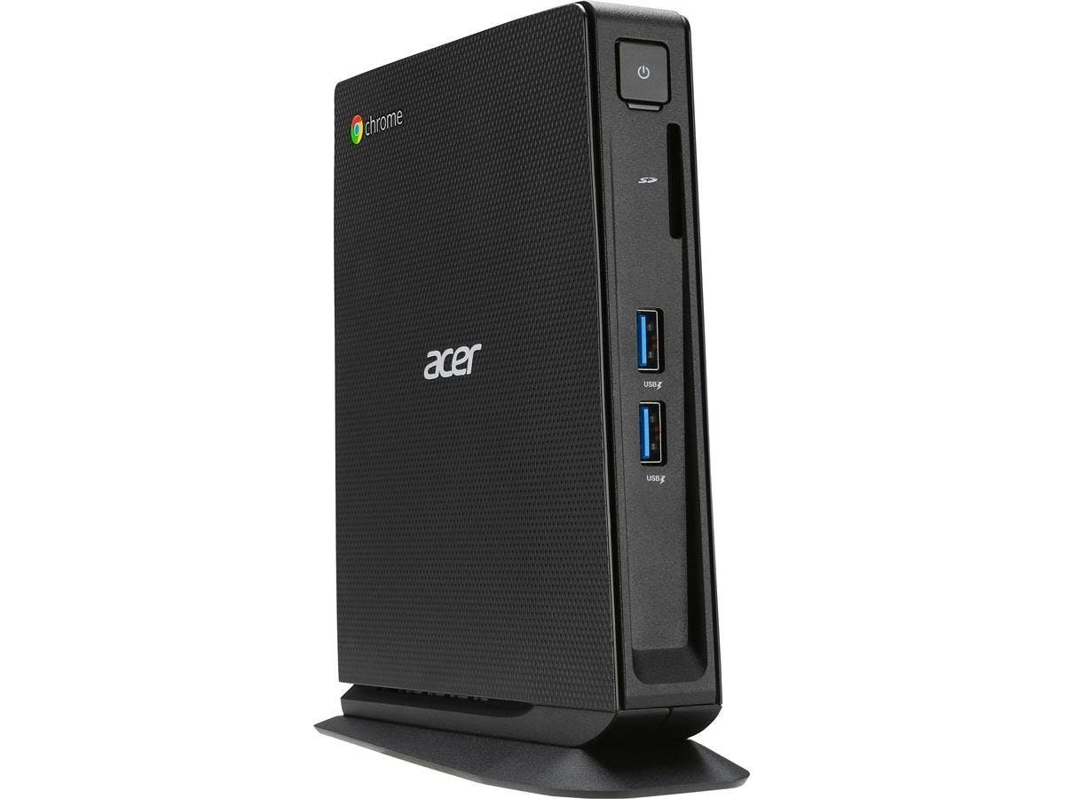 Acer CXI2 Desktop Computer - Intel Core i3 i3-5005U 2 GHz - 8 GB DDR3L SDRAM RAM - 16 GB Flash Memory Capacity - Chrome OS - Wireless LAN - Bluetooth - HDMI - 4 x Total Number of USB Port(s) - 4 x USB-Large-Image-1